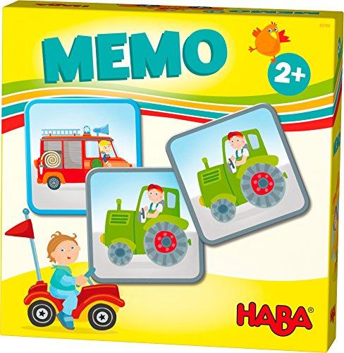 HABA 303760 - HABA-Lieblingsspiele – Memo Fahrzeuge | Memo-Spiel mit 16 extragroßen Karten | 8...