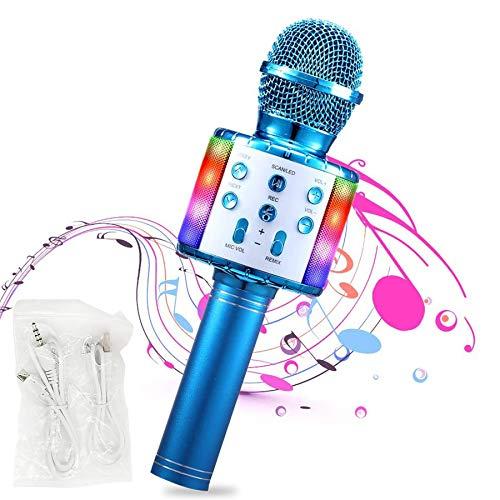 Drahtloses Bluetooth 32 Leds Mikrofon für Kinder Gesang-Tragbarer Handmikrofon Kindermikrofon für Musik...