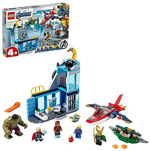 LEGO 76152 Super Heroes Marvel 4+ Avengers – Lokis Rache Set, Super Heroes Serie mit Iron Man & Hulk...