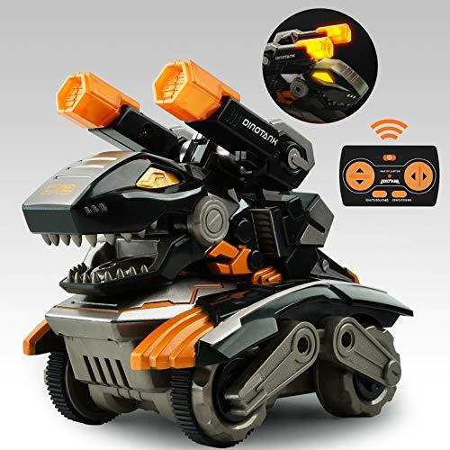 GizmoVine Dinosaurier Spielzeug mit Ferngesteuertes,360 Grad Drehen Stunt Auto Spielzeug mit LED Licht...