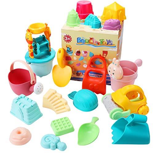 joylink Kinder Sandspielzeug Set, 26-teiliges Strandspielzeug Kit für Kinder mit Sandschaufel Eimer...