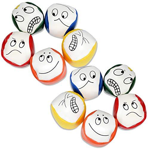 Joyibay Jonglierbälle für Anfänger, 10 STÜCKE Jonglierball Set Kreative Lustige Pädagogische...