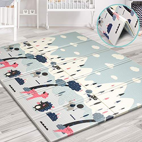 Aitere Baby Spielmatte,200 x 180 x 1,5 cm, faltbare Baby Bodenmatte, umweltfreudliches XPE Material,...