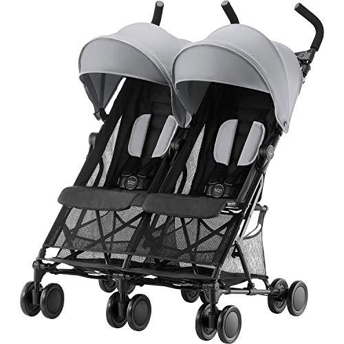Britax Römer Buggy 6 Monate - 3 Jahre, kompakt faltbar, bis 15 kg je Sitz, HOLIDAY DOUBLE, steel grey