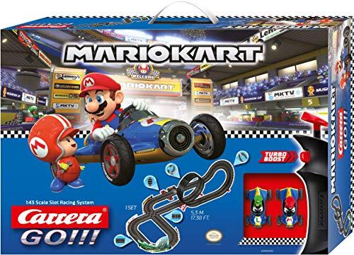 Carrera GO!!! Nintendo Mario Kart Mach 8 Rennstrecken-Set | 5,3m elektrische Carrerabahn mit Mario &...