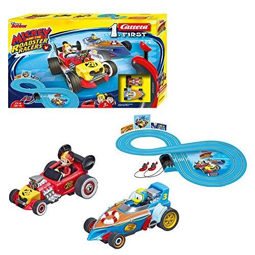 Carrera First Disney First Mickey and The Roadster Racers 20063012 Rennbahn für Kinder ab 3 Jahren...