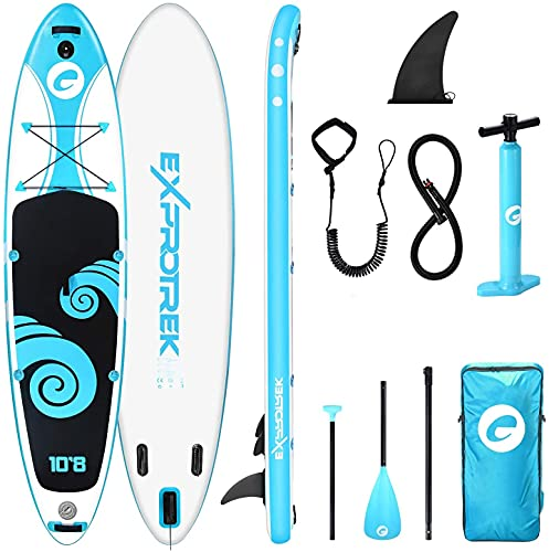 Exprotrek Stand Up Paddling Board, aufblasbares SUP Board, Stand Up Paddle Board Set, 6 Zoll dick für...