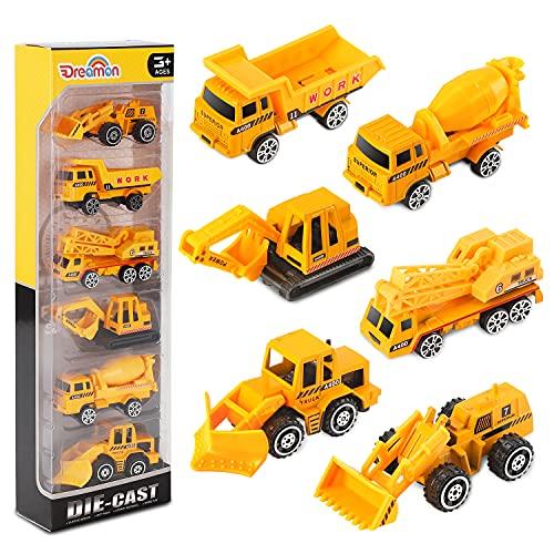 Dreamon Spielzeugautos Bagger Lastwagen LKW Baufahrzeuge Fahrzeuge Spielzeug Set Mini Cars für Kinder ab...