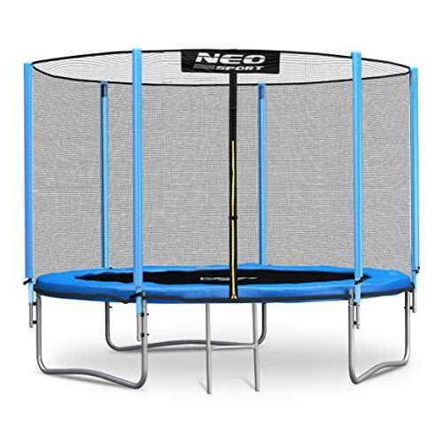 Neo-Sport Trampolin 183 cm 6 ft mit Sicherheitsnetz Außennetz und Einstiegsleiter Gartentrampolin
