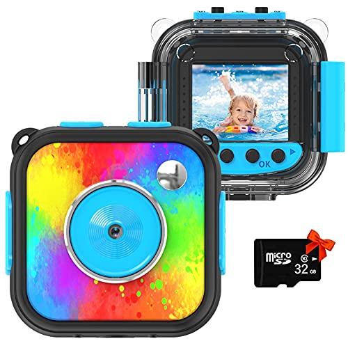 Uleway Kinderkamera,Mini Digital Kamera für Kinder,Action Kamera wasserdichte,Unterwasser Kamera...