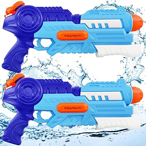 heytech Wasserpistole, 2 Pack Super Squirt Wasserpistolen ,1.2L Großer Kapazität & 10 Meter Reichweite,...