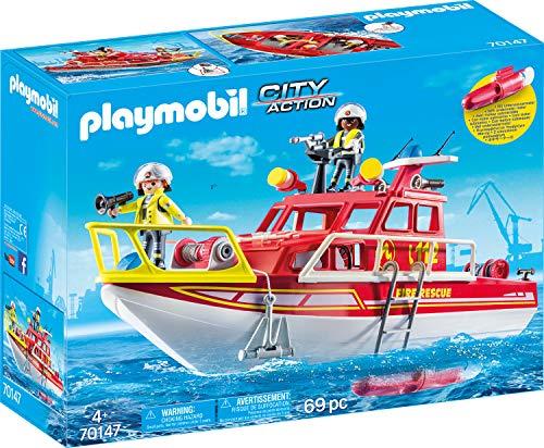 PLAYMOBIL 70147 City Action Feuerlöschboot, bunt