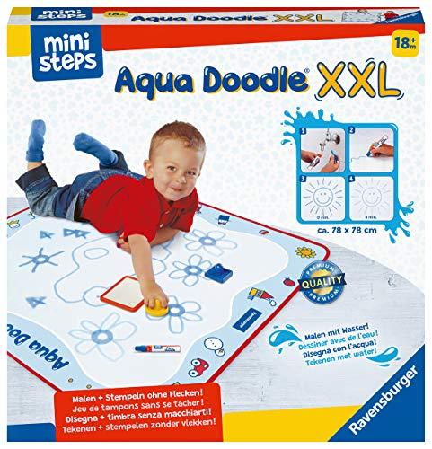 Ravensburger ministeps 4180 Aqua Doodle XXL, Große Malmatte für fleckenfreies erstes Malen mit Wasser,...