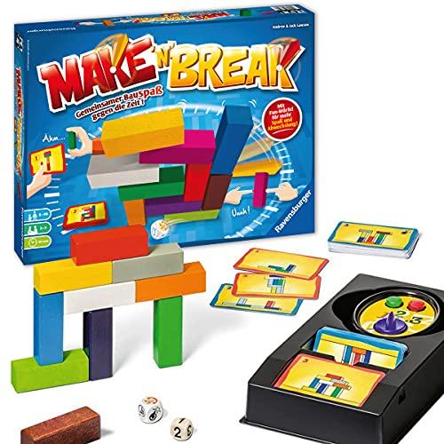 Ravensburger 26750 Make 'n' Break - Gesellschaftsspiel für die ganze Familie mit Bausteinen, Spiel für...