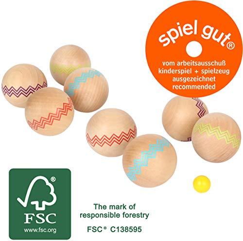 small foot 12029 Boule 'Active' aus FSC® 100%-zertifiziertem Holz, Outdoor-Familienspiel, ab 3 Jahren