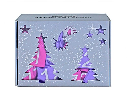 Make-up Adventskalender 'Satin Bags' pink/lila  mit 24 Satin-Säckchen
