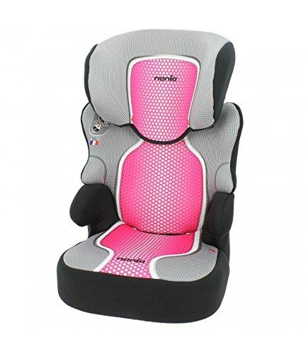 Mycarsit Sitzerhöhung mit Rückenlehne, Gruppe 2/3(von 15bis 36kg), Pink