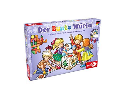 Noris 606011289 Der Bunte Würfel, der fröhliche und kindgerechte Würfelspiel Klassiker für Klein und...