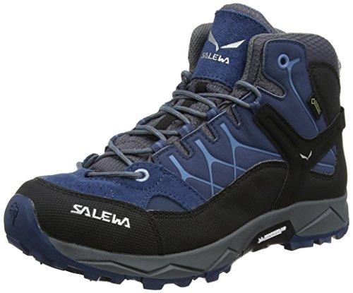 Salewa JR Alp Trainer Mid Gore-TEX Kinder Trekking- & Wanderstiefel, Dark Denim/Charcoal, 30 EU