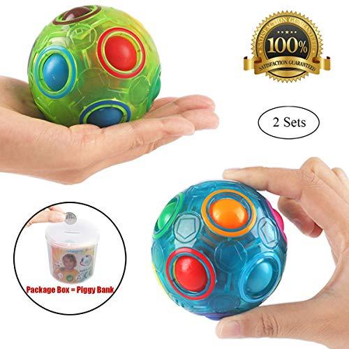 PROACC 2PCS Regenbogen Ball Magic Ball Spielzeug Puzzle Magic Rainbow Ball für Kinder Pädagogisches...