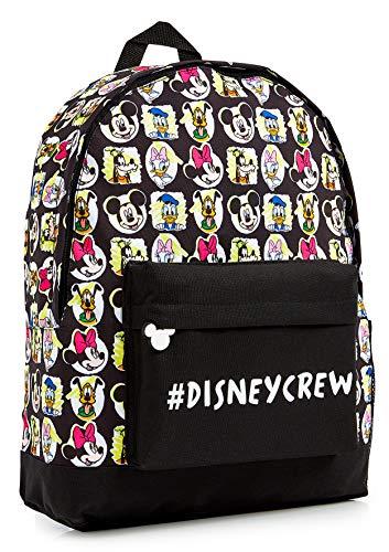 Disney Rucksack Kinder, Schwarz Kinderrucksack Mädchen und Jungen mit Mickey Mouse Wunderhaus Donald...