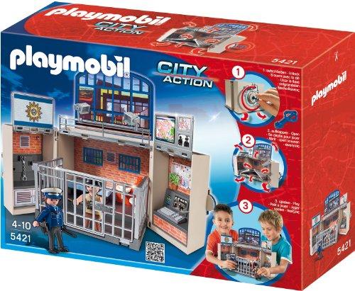 Playmobil 5421 - Polizeistation, Aufklapp-Spiel-Box