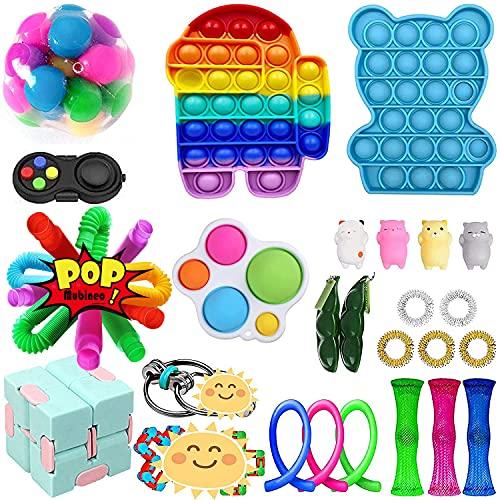 Mubineo Sensorische Fidget Spielzeug-Satz für Kinder oder Erwachsene Fidget Toys Pack-Hand Spielzeug...