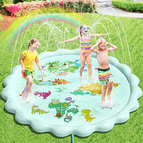 Peradix Splash Pad, 200CM Sprinkler Play Matte Sprinkler Kinder Anti-Rutsch Wasser-Spielmatte Sommer...