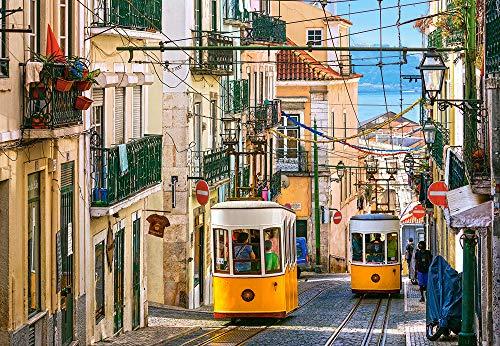 Castorland C-104260-2 Lisbon Trams,Portugal, 1000 Teile Puzzle, bunt