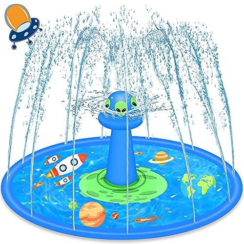 LUKAT UFO Splash Matte, 170CM Sprinkler Play Matte Splash Pad Wasser Spielmatte Sommer Garten...