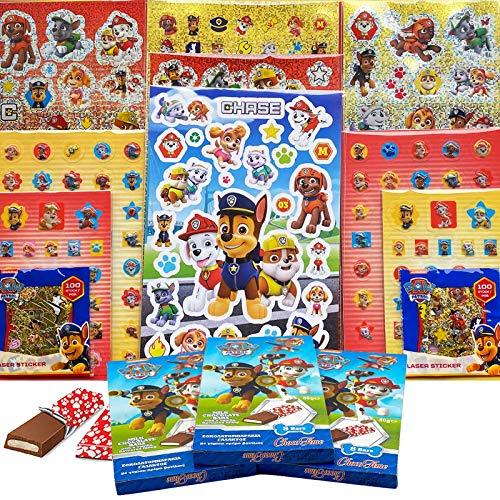 JuniorToys Design für Paw Patrol Superpack mit über 500 Stickern und Schokolade als Mitgebsel...