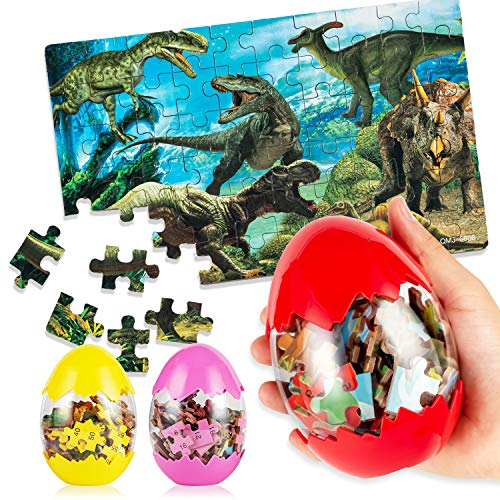 Uping 3er-Set Dinosaurier-Ei 60 Stück Dinosaurierei Ostereier Dinosaurier Puzzle Sicheres Material Für...