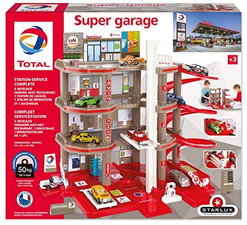 STARLUX 401006 Total – Super Garage Station – kompletter Service – ab 3 Jahren, Rot/Grau/Schwarz
