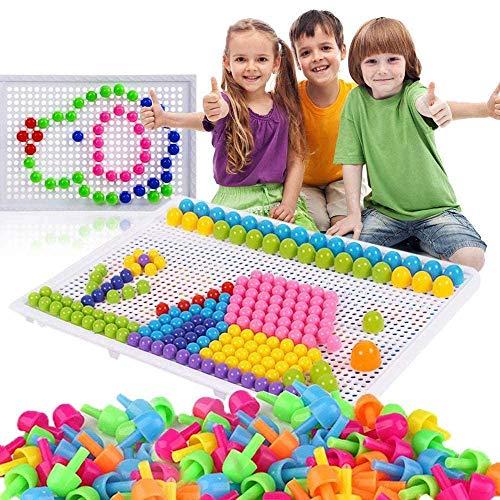 980 Stecker Puzzle Steckspiel Pilz Nägel Pädagogische Baustein Spielzeug Kreative DIY Mosaik Spielzeug...