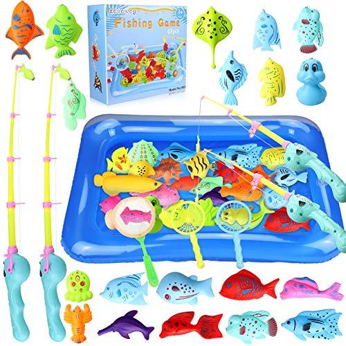 aovowog 48 Stück Baby Angeln Spielzeug ab 1 2 3 Jahre,Badespielzeug Badewannenspielzeug Wasserspielzeug...