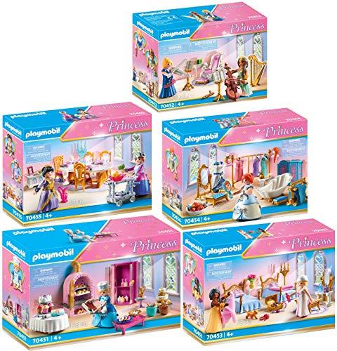 PLAYMOBIL® Princess 5er Set 70451 70452 70453 70454 70455 Schlosskonditorei + Musikzimmer + Schlafsaal +...