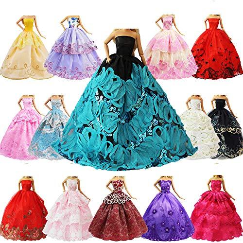 ZITA ELEMENT 5er Packung Handmade Bekleidung für 11,5 Zoll Girl Doll Puppe Hochzeit Party Abendkleid...