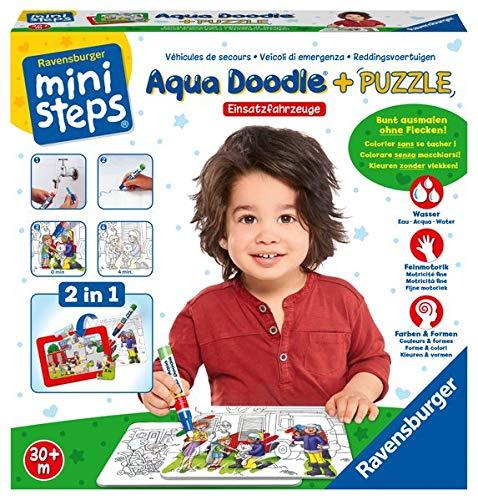 Ravensburger ministeps 04558 - Aqua Doodle® Puzzle: Einsatzfahrzeuge