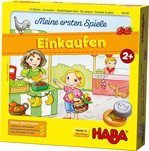HABA 302781 – Meine ersten Spiele – Einkaufen, Spiel ab 2 Jahren mit 3D-Marktstand und Spielmaterial...