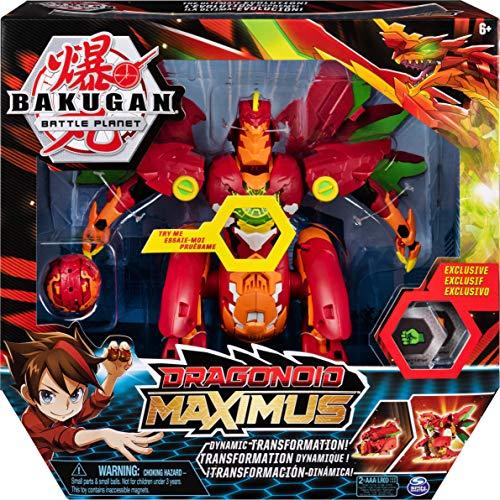 Bakugan Dragonoid Maximus, 20cm große verwandelbare Sammelfigur mit Effekten, enthält exklusiven Titan...