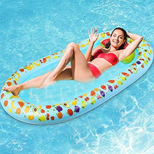 Jojoin Wasser Hängematte, 178CM * 94CM Aufblasbare Pool Liege Float Schwimmmatte mit Exquisitem...