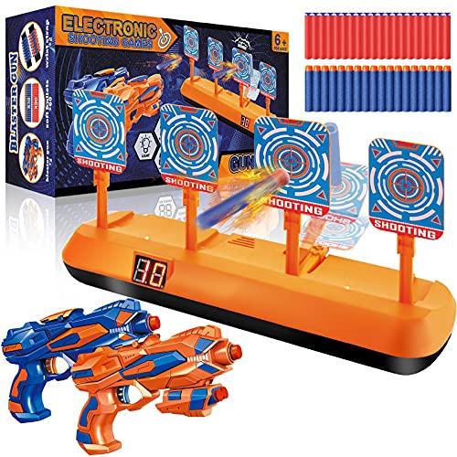 Elektrische Zielscheibe für Nerf, Digitales Ziel mit 2 Spielzeug Blaster Pistolen, 60 Darts,...