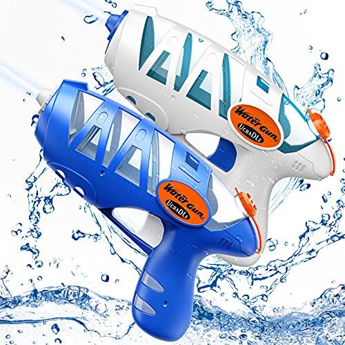 Ucradle Wasserpistole Spielzeug für Kinder - 2 Stück Kleine Water Gun Spritzpistolen für den Strand...