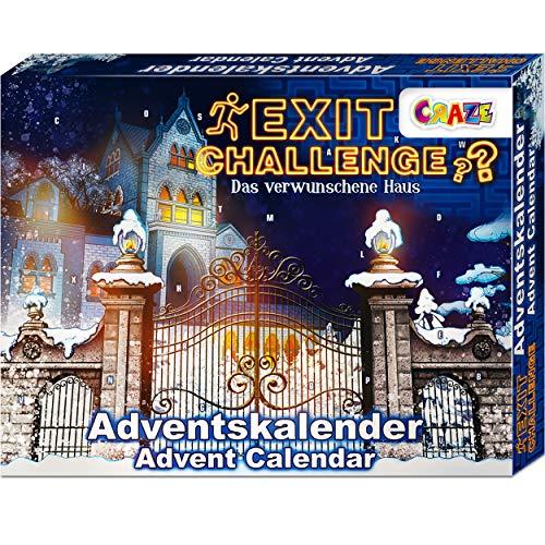CRAZE Adventskalender EXIT CHALLENGE - das verwunschene Haus Escape Game spannende Rätsel für Kinder ab...