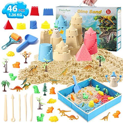 Theefun Magic Sand Set, 1360g 3 Farben Space Sand kit, magischer Sand, ungiftiges kinetischer Sand für...