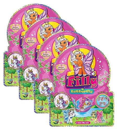 Dracco Macau UT20624A - Filly Butterfly Sammelpferdchen, 4-er Set