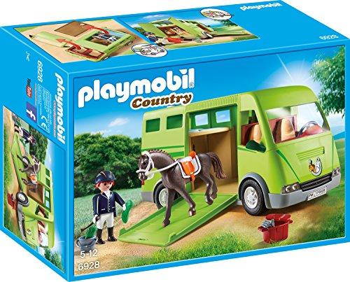 PLAYMOBIL 6928 Country Pferdetransporter mit Reiter und Pferd inkl. Zubehör, ab 5 Jahren