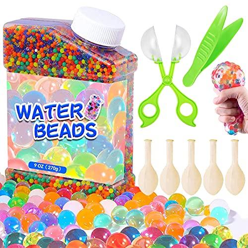 Nisso Wasserperlen 50000PCS Wasserkugeln Gel Perlen Aquaperlen 14 Farben Bunte Wachsen In Wasser für...