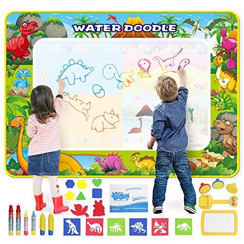 GoZheec Wasser Doodle Matte, Aqua Magic Doodle Zeichnen Malmatte Kinder Doodle Groß, Wiederverwendbare...
