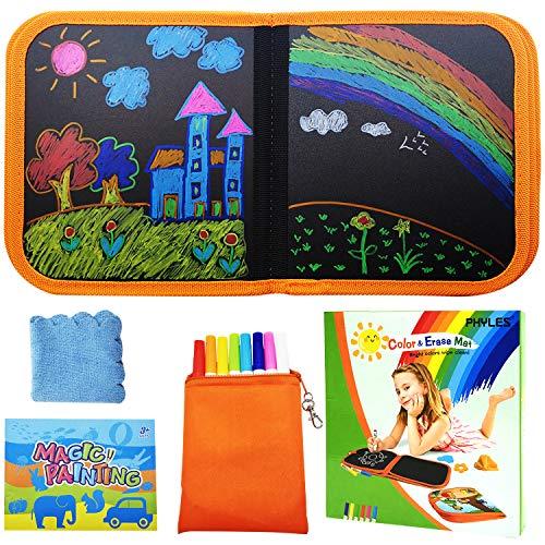 PHYLES Doodle pad, Abwischbares Malbuch für Kinder, Graffiti-Zeichenbrett für Kinder, Tragbares Kinder...